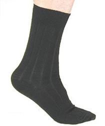 Silvert's 503600201 Mens Dress Socks , Size ONE, BLACK