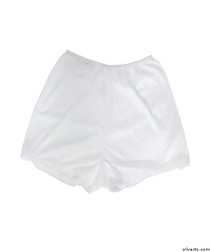 Silvert's 19520102 Womens Flare Leg Bloomers, Size Medium, WHITE