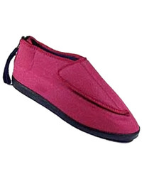 Silvert's 103000103 Adjustable Ezi Fit Slipper For Women, Size 6, BLACK
