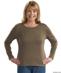 Silvert's 132200201 Womens Regular Crew Neck TShirt Top , Size Small, OREGANO