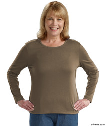 Silvert's 132200202 Womens Regular Crew Neck TShirt Top , Size Medium, OREGANO