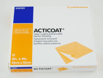 "Smith & Nephew 20101 Acticoat Burn Dressing Antimicrobial 3-Day 4""x 4"" 12/box - SN-20101"