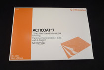 Smith & Nephew 20141 Acticoat 7 Seven Day Antimicrobial Barrier Wound Dressing, Low Adherent, Antimicrobial Barrier 10cm x 12.5cm 5/box