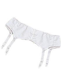 Silvert's 185000107 Womens Garter Belt, Size 40, WHITE