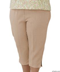 Silvert's 233400403 Womens Adaptive Capri Pants , Size Large, CAMEL