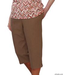 Silvert's 233400804 Womens Adaptive Capri Pants , Size X-Large, COCOA