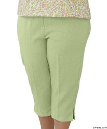 Silvert's 233400504 Womens Adaptive Capri Pants , Size X-Large, GREEN