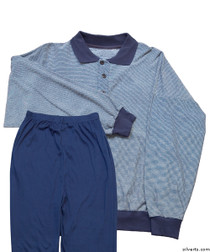 Silvert's 500000102 Mens Regular Lightweight Active Set Polo style top & Two, Size Medium, ASSORTED PRINTS