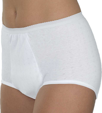 Wearever HDL200-WHITE-2XL-3PK Women's Maximum Absorbency Washable panties, 3 PACK