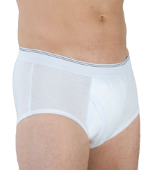 Wearever HDM200-WHITE-MED-3PK Men's Incontinence Boxer Briefs, 3 Pack