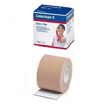 Leukotape K 7297811 Elastic Adhesive Tape for Pain Relief Beige 5 cm x 5 m Box/1 Pack/5
