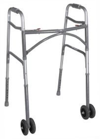 Drive 10220-1WW Bariatric Aluminum Folding Walker, Two Button (Drive 10220-1WW)