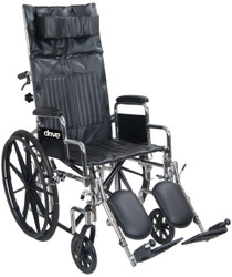 "Drive Medical CS20RBDDA Chrome Sport 20"" FULL-RECLINING WHEELCHAIR"