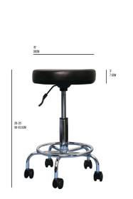 Prota Beauty PB-2006 Hydraulic Stool Black