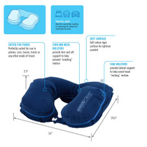 ObusForme® PL-INP-02 Inflatable Travel Neck Pillow