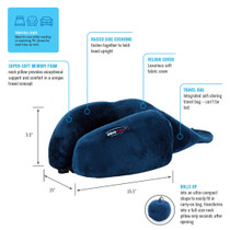 ObusForme® PL-RNK-BLA-6PK Ultra Compact Roll-Up Travel Neck Pillow