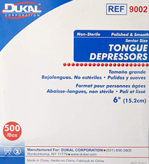 "DISPOSAMED Tongue depressors Non-Sterile Adult 6"", 500/bx"