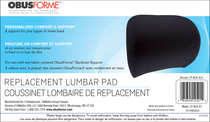 ObusForme® LP-BLK-01 Lumbar Pad Replacement