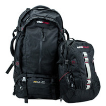 ObusForme® OB-322BLK Trip 65L Travel pack with 25L detachable Daypack, Comfort Support System