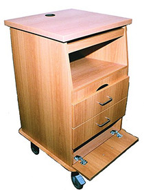 Novum 9202-C Fetal Monitor Cart, Melamine (Novum 9202-C)