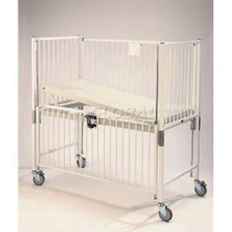 Novum C1980CLT Crib, Infant, Flat Pan Trendelenburg Deck, 30 x 44, Chrome (Novum C1980CLT)