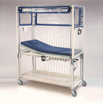 Novum C2072CLT Crib, Infant ICU, Klimer, 4 Side Release, Flat Pan Trend, 30 x 44, Chrome (Novum C2072CLT)