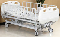 "Novum 115M-H-A Youth Bed, Manual, 3 Cranks, 5"" Casters, 6 IV Hooks"