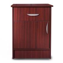 """Novum MON-DDM Monroe Series Bedside Cabinet, 1 Door/1 Drawer, 22""""W X 17""""D X 29""""H, Mahogany"""