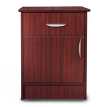 "Novum MON-DDH Monroe Series Bedside Cabinet, 1 Door/1 Drawer, 22""W X 17""D X 29""H, (Hazel or Mahogany)"