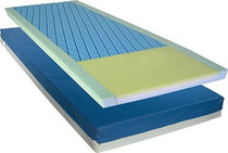 "Novum NV-PPM7-84-RS Multi-Layered/Multi-zoned Foam Mattress w/3"" Elevated Perimeter and Cut-out 84""x 36"" x 6"""