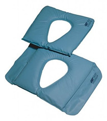 "Lumex 8164561 Cushion Commode - Gel/Foam 250lb 17""x 16"" cover w/ Sure-Chek anti-microbial"