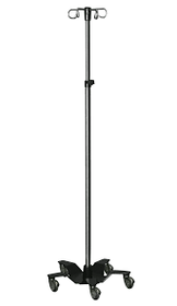 Novum IVSTAND-02N IV Stand, 5 Legs, 2 Rams Hooks