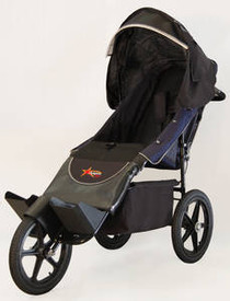 Adaptive Star Aed4N Axiom ENDEAVOUR 4 Indoor/Outdoor Mobility Push Chair, Navy