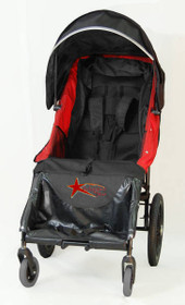 Adaptive Star ALA2R Axiom LASSEN 2 Indoor/Outdoor Mobility Push Chair Red