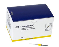 "BD 360214 VACUTAINER BLOOD COLLECTION Multi-sample Needles 20 G x 1"", Yellow, Box/ 100, Case of 10"