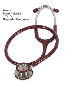 AMG 108-184 STETHOSCOPE, ADULT, BURGUNDY, PREMIER ELITE EA/1