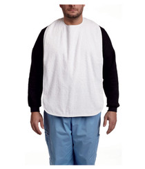 MOBB Health Care MHBV-WH Terry Cloth bib with velcro-white (MOBB Health Care MHBV-WH)