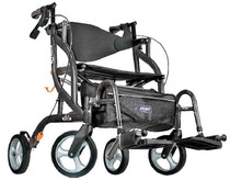 "Airgo 700-938BK Fusion 2 in 1 Side-Folding Rollator & Transport Chair, 18"", Black (Airgo 700-938BK)"