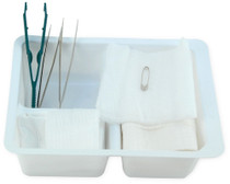 3019 Dressing Tray Basic with Lid, Sterile