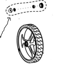 AMG B01-841 HARDWARE FOR 8 Inch TIRE (AMG B01-841)
