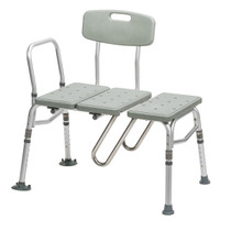 Drive Medical 12032KDR Splash Defense Transfer Bench with Curtain Guard Protection