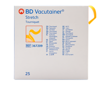 "BD 367209 Vacutainer Stretch Latex-Free Tourniquet 1"" x 18"" Orange & Disposable BX/25"