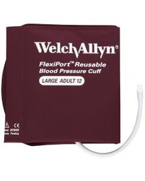 Welch Allyn WA REUSE-12-1SC  REUSABLE BLOOD PRESSURE CUFF, FLEXIPORT, 1 TUBE SCREW, ADULT LARGE