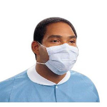 KC 47080 BX/50 PROCEDURE MASK WITH EARLOOPS, BLUE