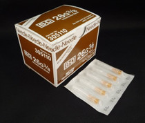 "BD 305110 PRECISIONGLIDE Needle STERILE CONVENTIONAL Tan Regular Wall Intradermal 26G x 10mm (0.375"") 100/bx"