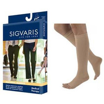 SIGVARIS SG504CL4O UNISEX NATURAL RUBBER STOCKING, SIZE L4, KNEE HIGH, 40-50MMHG, OPEN TOE, BEIGE (NON-RETURNABLE), PR/1