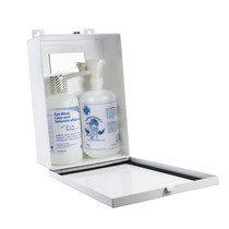 Wasip F4572701 Metal Eye Wash Station Cabinet, Dual bottle