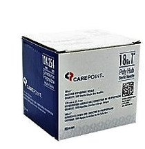 "Allison Medical 02-1801 CAREPOINT POLY HUB NEEDLE, 18G, 1"", BX/100"