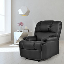 Costway HW52719 Recliner Massage Sofa Chair Heated Lounge Couch Black / Beige
