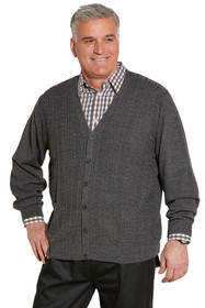 Ovidis 1-8001-91-2 Cardigan for Men - Grey , Adaptive Clothing , 1XL